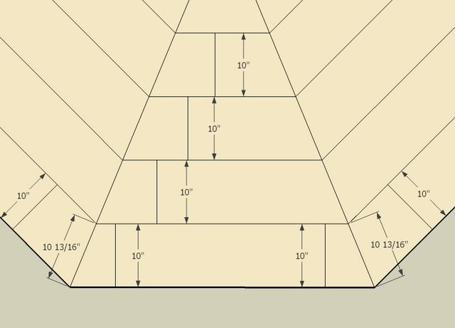 Need help advice on triagle angle steps like decks for Octagon deck plans free