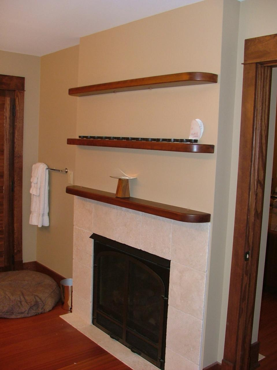 Walnut Shelving With Concealed