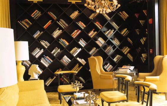 Diagonal Bookcase Design
