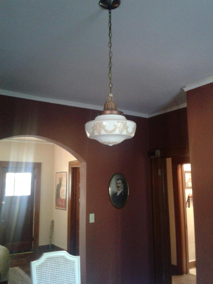 Our Little 1920 S Bungalow Dining Room Light Jpg