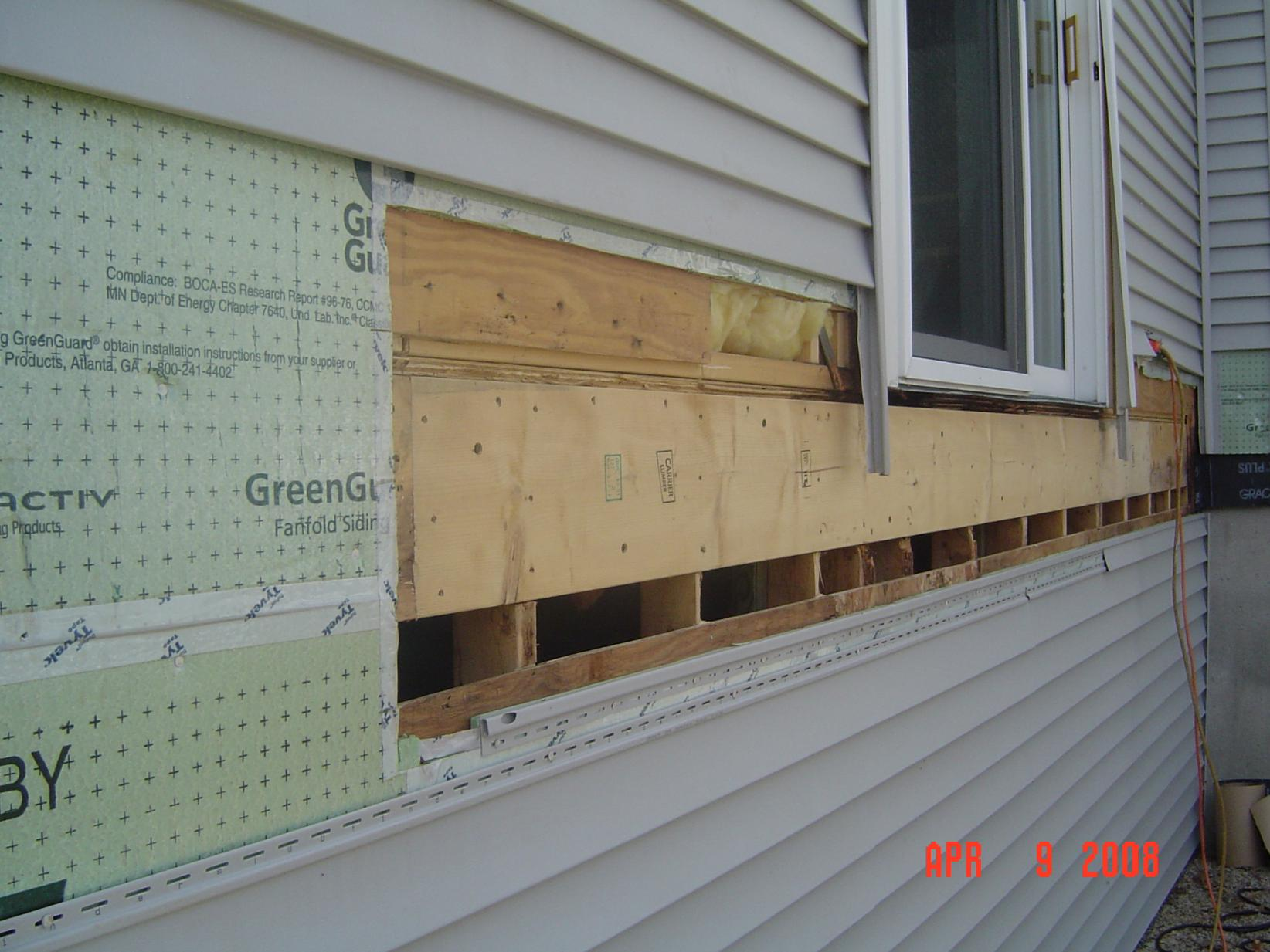 Attaching deck to house with siding - Tips On Removing Vinyl Siding For Attaching Ledger Board Dipalma Deck 013