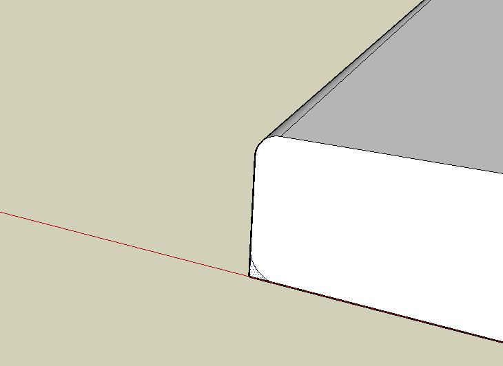 how to find radius of a rounded corner
