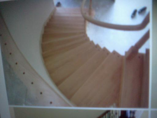 curved transition from hardwood to