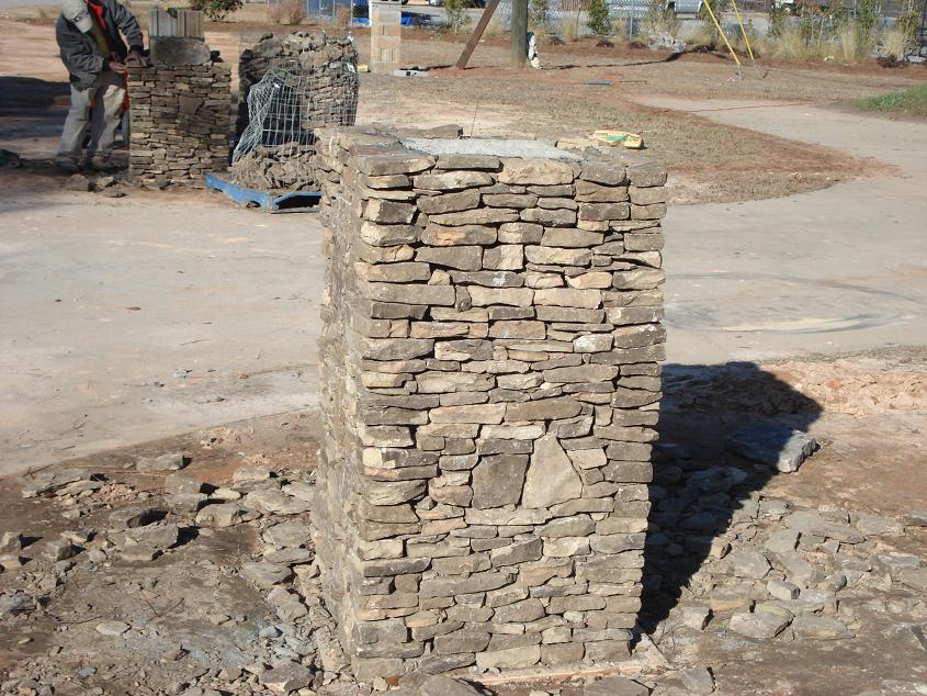 Stacked Stone Columns : Tried some stack stone columns masonry contractor talk