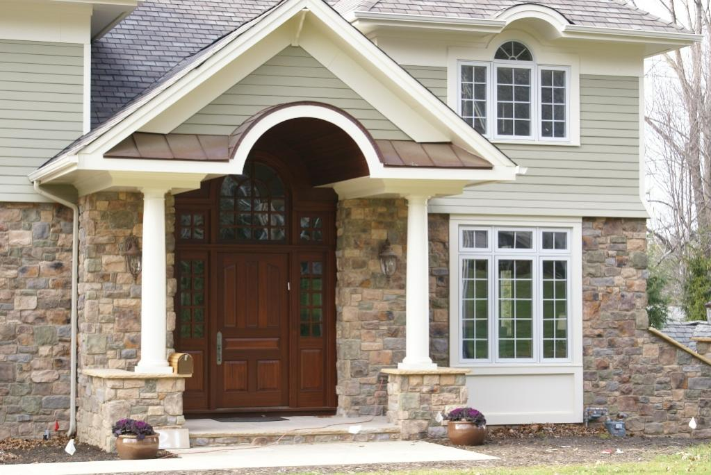 Pvc exterior trim arch window finish carpentry for Exterior window designs for house