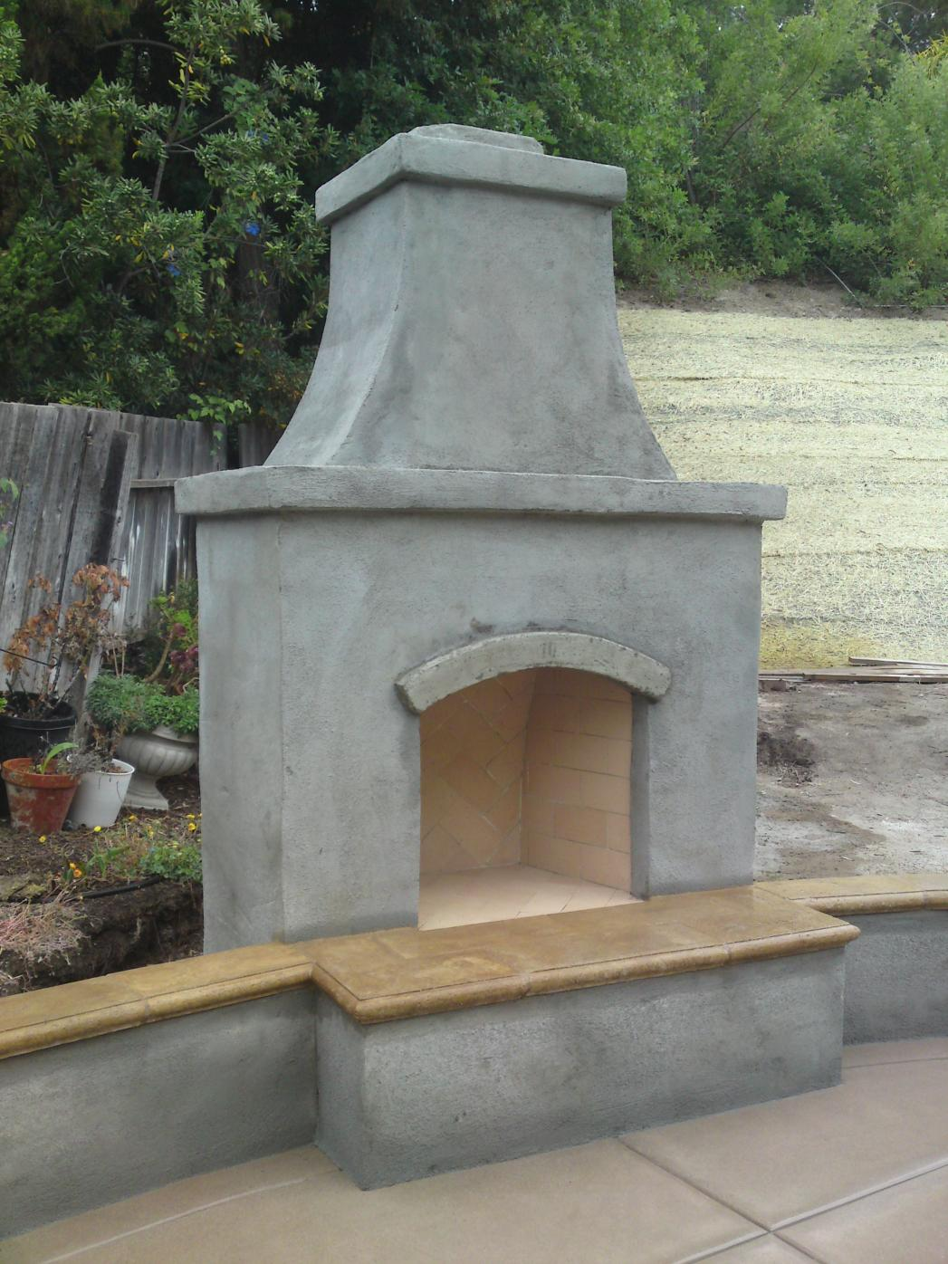 Another Outdoor Fireplace - Masonry Picture Post ... on Building Outdoor Fireplace With Cinder Block id=67279