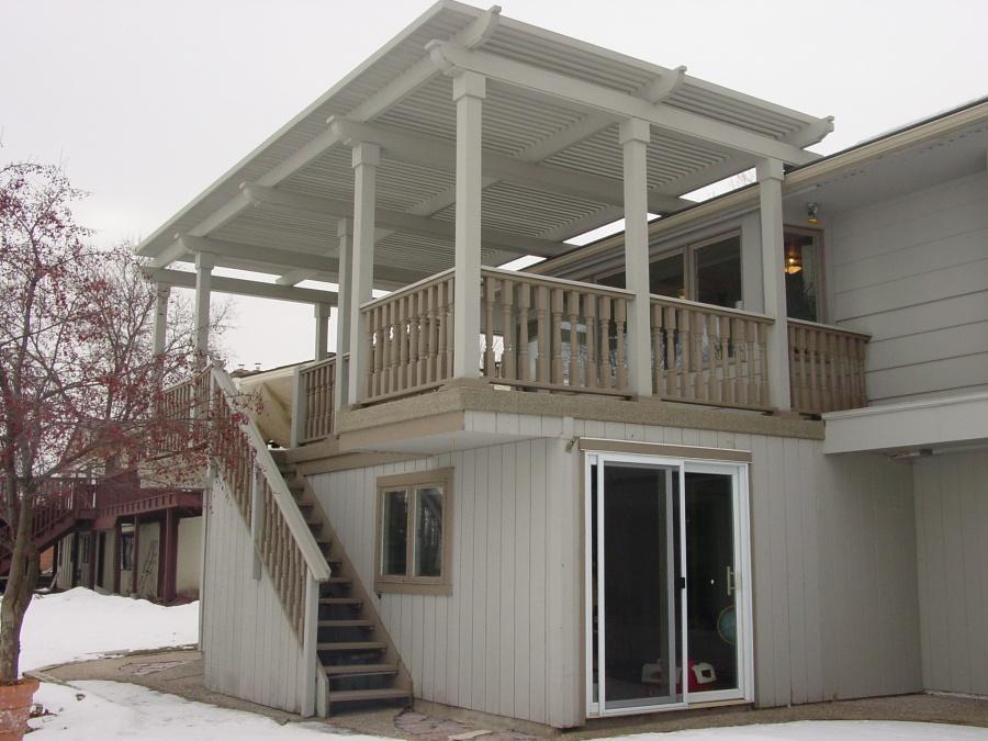 Attachment of Pergola to shingle roof???-dsc01200.jpg - Attachment Of Pergola To Shingle Roof??? - Decks & Fencing
