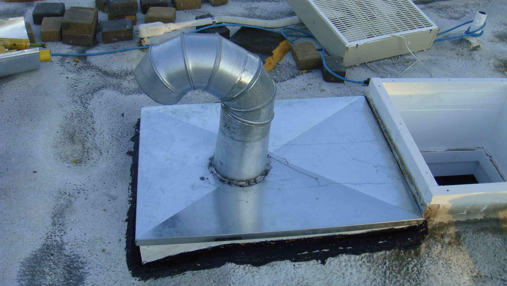 Roof Jack No Flashing To 6 Quot Duct Integrity Roofing