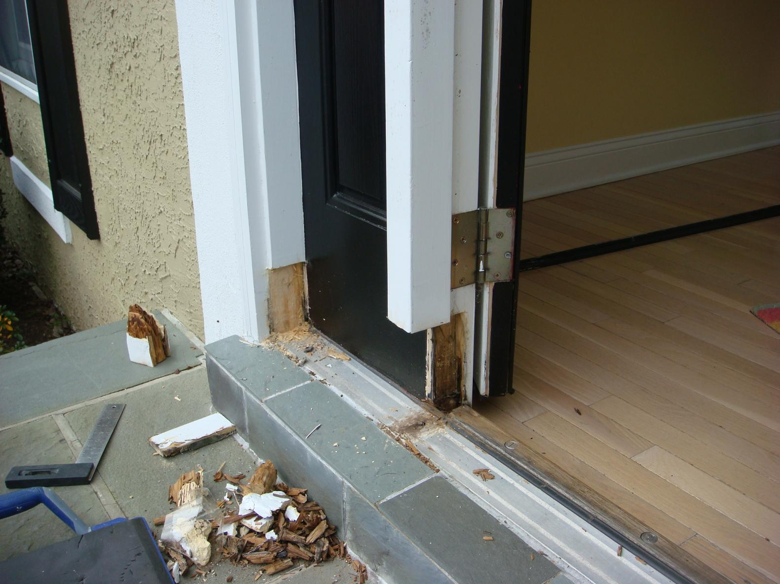 repairing rotted door frames finish carpentry contractor talk