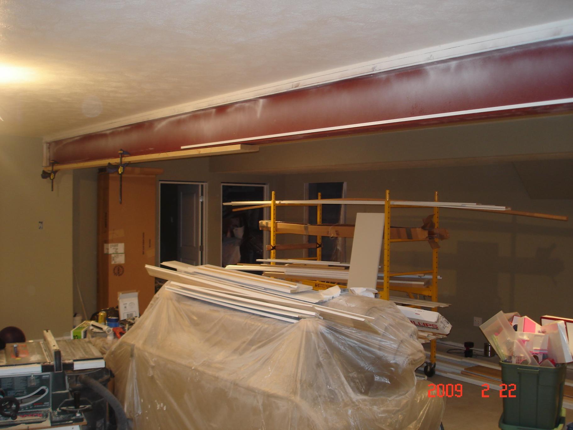 Boxing Steel Beam Ideas Finish Carpentry Contractor Talk