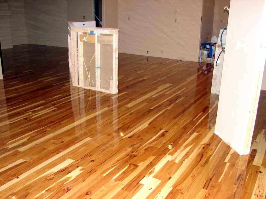 Random Width Rustic Hickory Floor We Re Working On