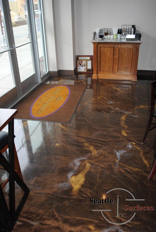 Designer Metallic Epoxy Floor For 700 Sq Ft Retail Space