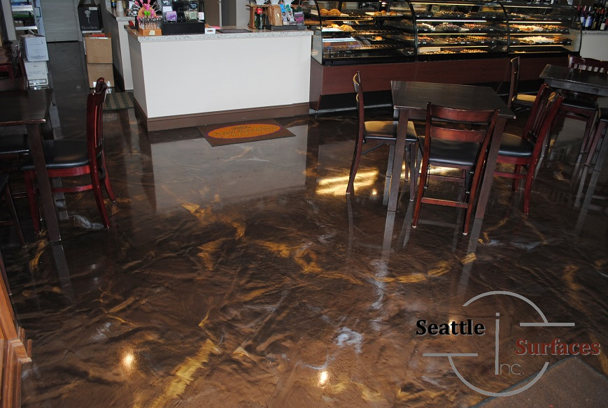 Designer Metallic Epoxy Floor For 700 Sq Ft Retail Space