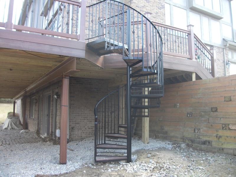 Trex Spiral Stairs dscf1149 jpgTrex Spiral Stairs   Decks   Fencing   Contractor Talk. Outdoor Spiral Stairs Canada. Home Design Ideas