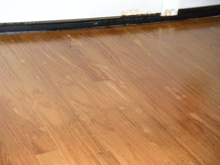 How to refinish hardwood floors one project closer home for Wood floor repair specialist