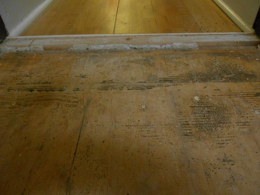1 4 Pine Plywood Self Leveling Compound Ditra Tiling