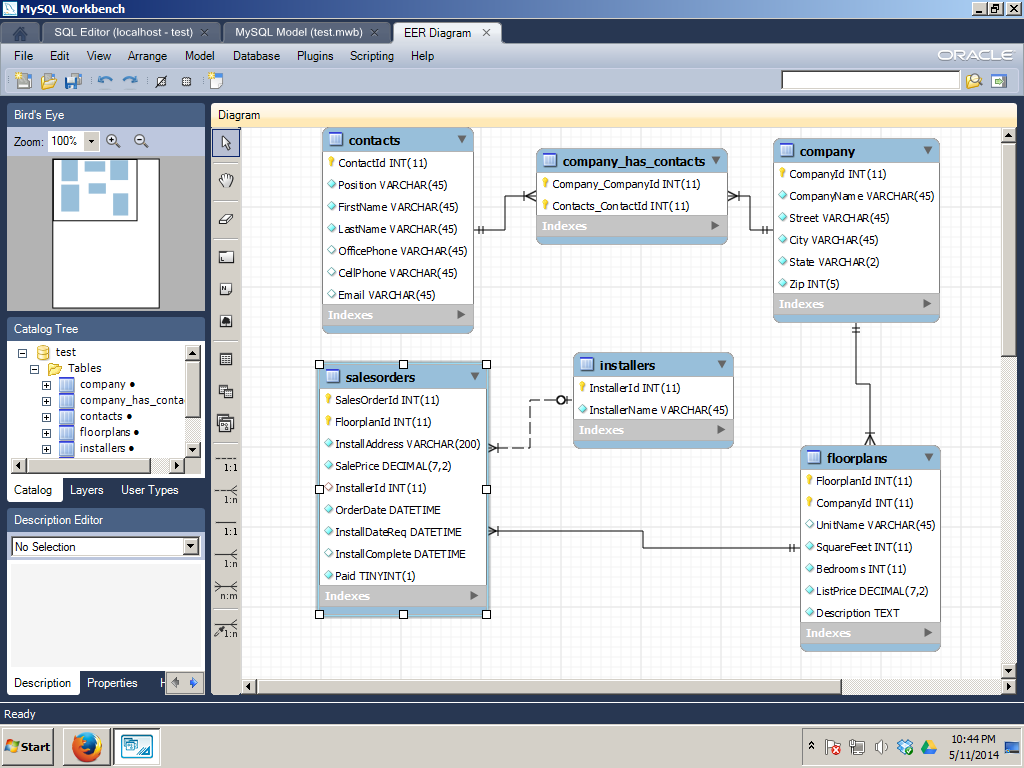 how to change mysql eer diagram page orientation
