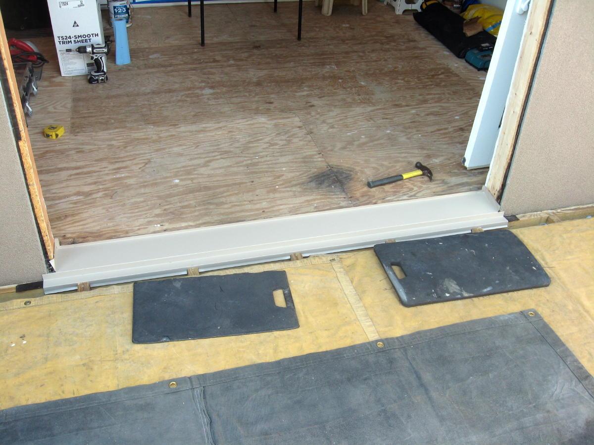 Sealing under door threshold best technique windows - Replace threshold prehung exterior door ...