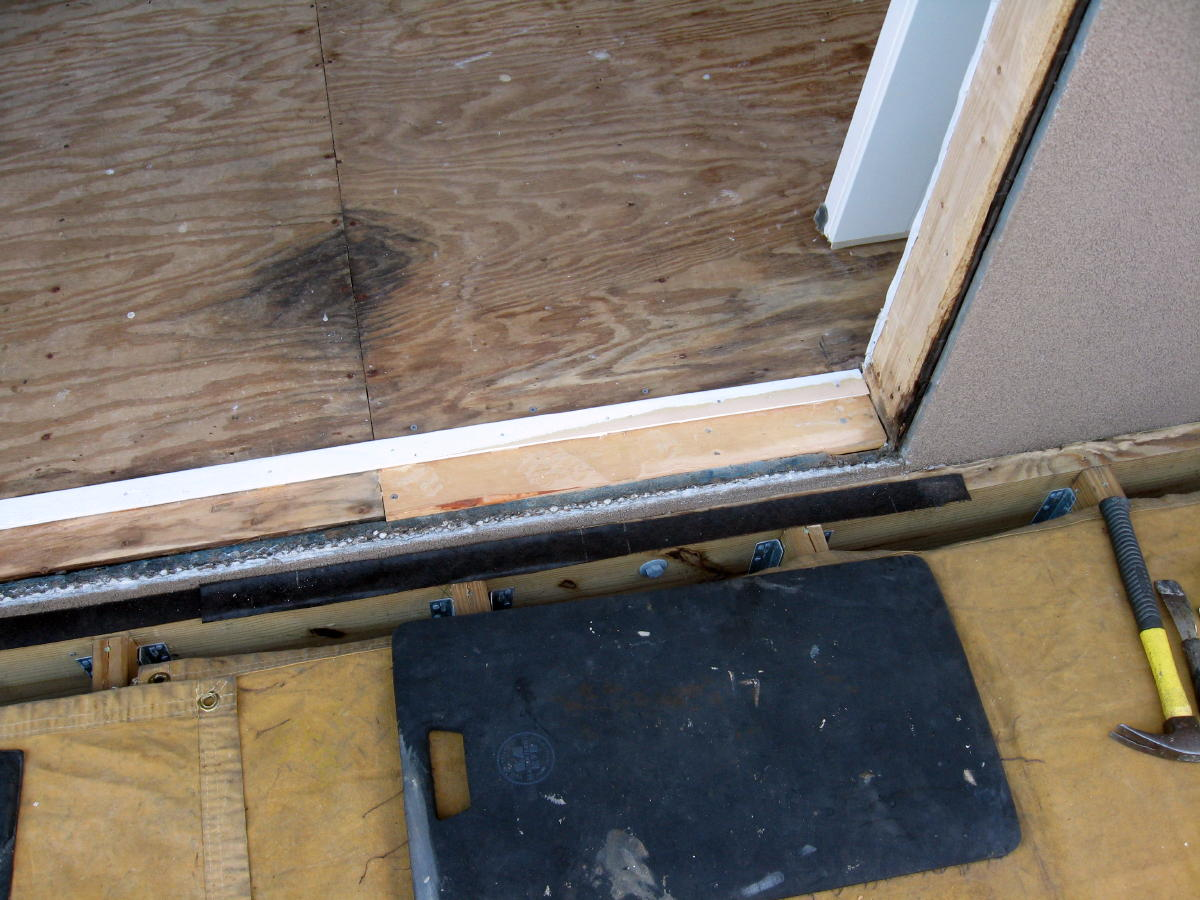 Sealing Under Door Threshold Best Technique Windows Siding And