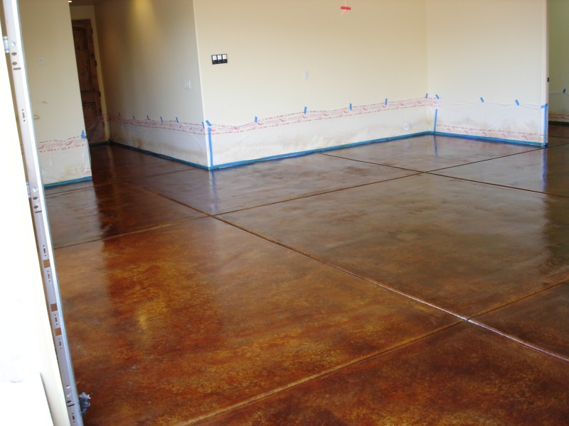 Cleaning a floor to prep for acid stain flooring for Cleaning colored concrete