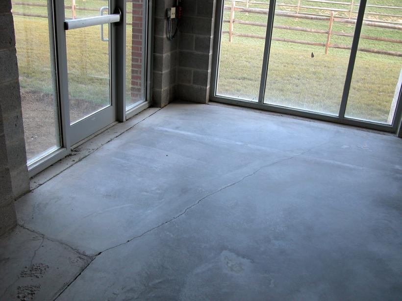 new concrete floor laid cracking and sealer