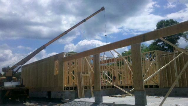 6000 Sq Ft House Prebuilt Wall And Truss The Roof Has