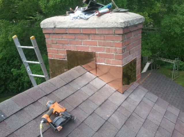 Fresh Copper Counterflashing Roofing Picture Post