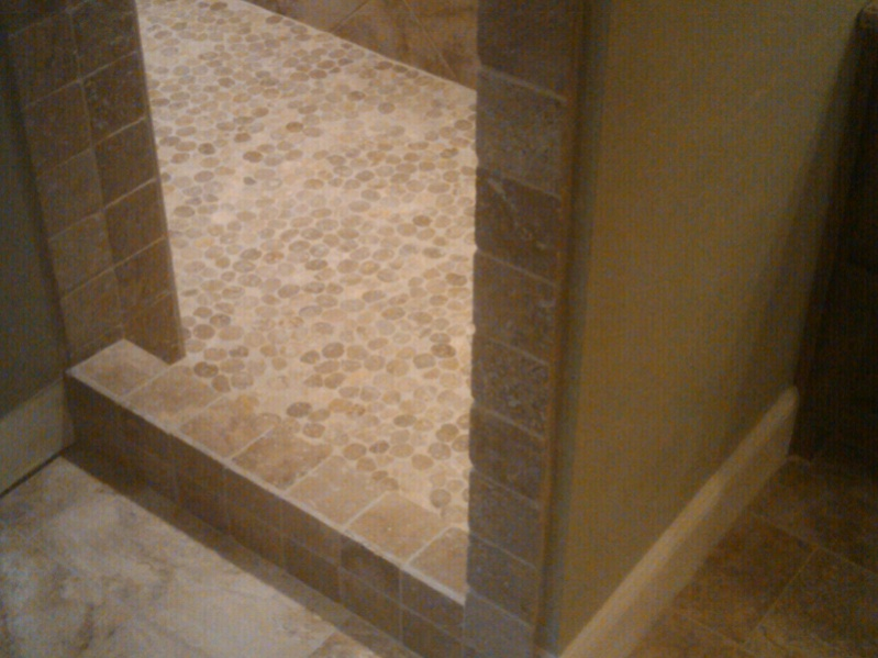 Pebble Tile For Shower Floor Any Install Recommendations Tiling