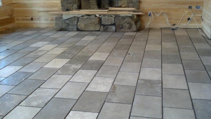 Chiseled Edge Grouting Tiling