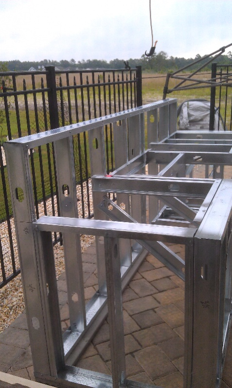 Framing An Outdoor Kitchen With Metal Studs - Outdoor Designs