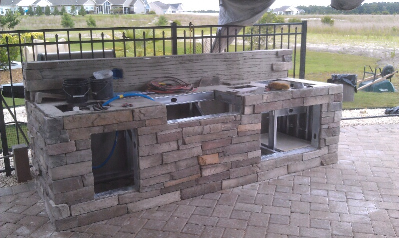 My Parents Outdoor Kitchen Build - Kitchens & Baths ...