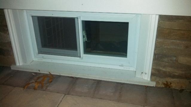 Setting New Basement Windows In Cut Cement Windows
