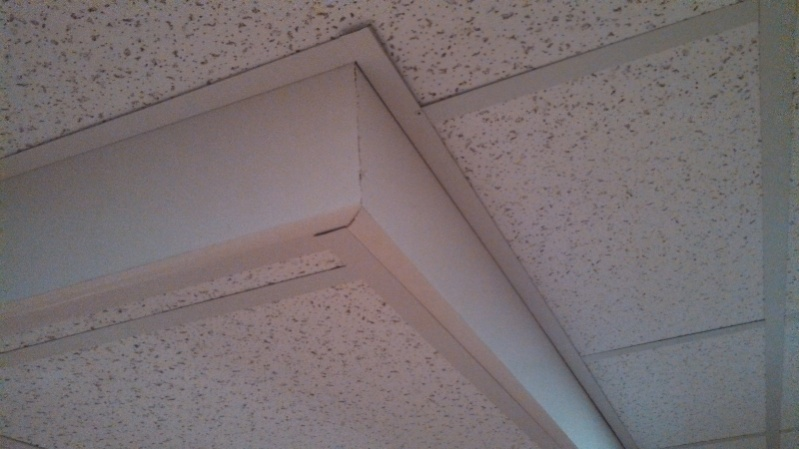 suspended ceiling over dropped
