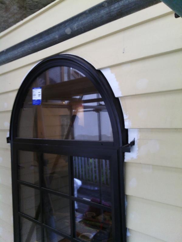 Arch window trim flashing windows siding and doors for Window flashing