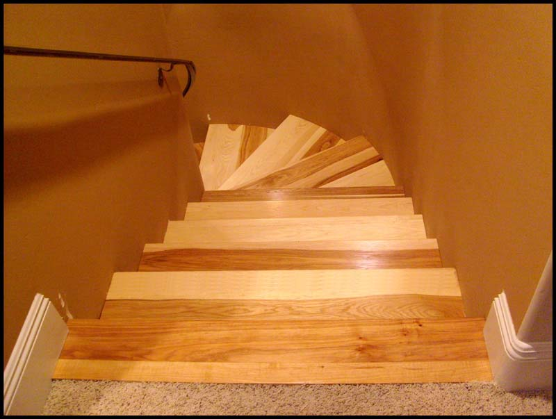 ... Hickory Stair Treads Fromtop ...