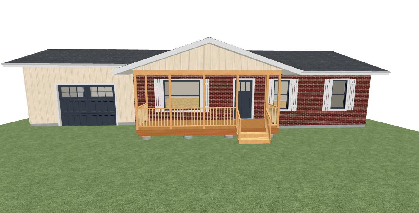 Ideas For Open Gable Porch Help Front Elevation Garage 2