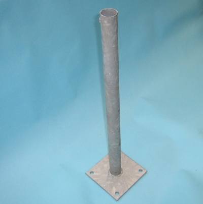 How To Anchor A... Vinyl Fence Post Anchors To Concrete