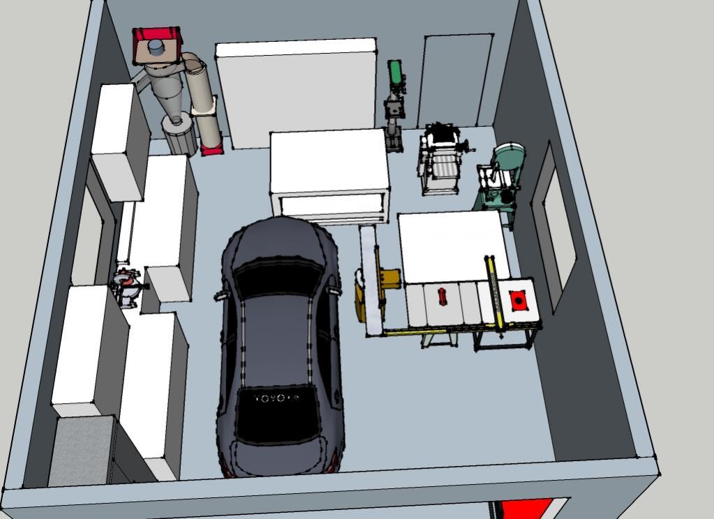 Woodshop garage layout joy studio design gallery best for Garage shop layout