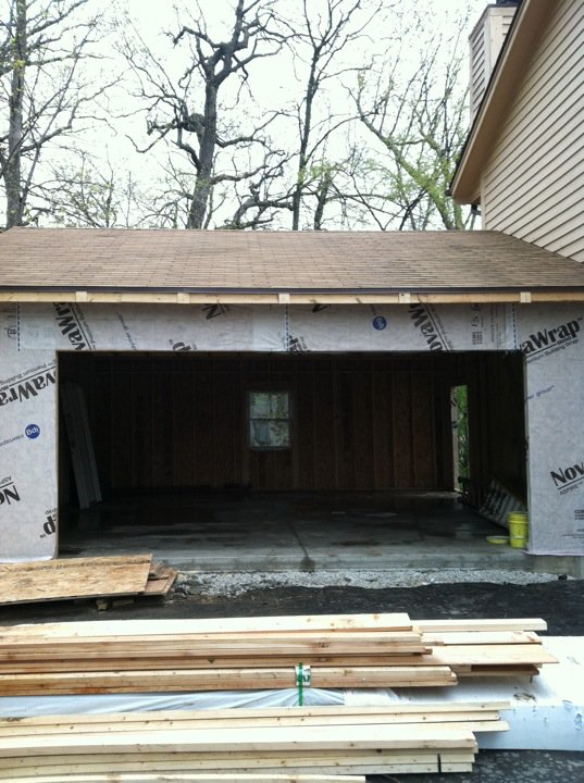 Our garage addition framing contractor talk for Attached garage addition