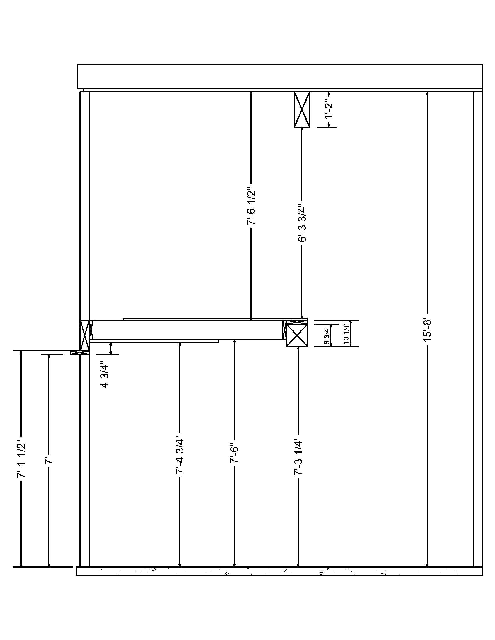 Minimum ceiling height for 7 39 garage door windows for Rv garage door height