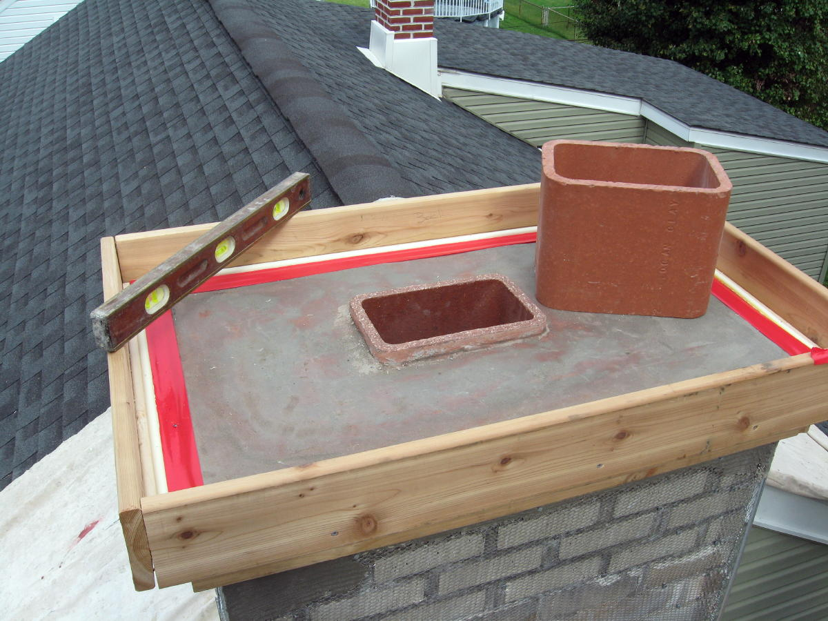 Concrete Chimney Cap : Chimney tuck point masonry contractor talk