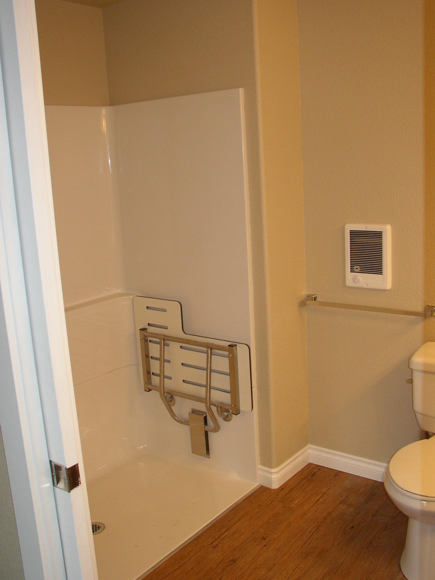 Help Wheelchair Roll In Shower Design Kitchens Baths