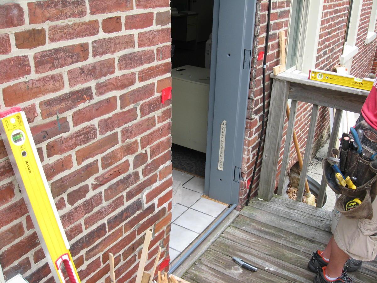 How Can I Install A Metal Door In An Exsisting Block Wall Windows