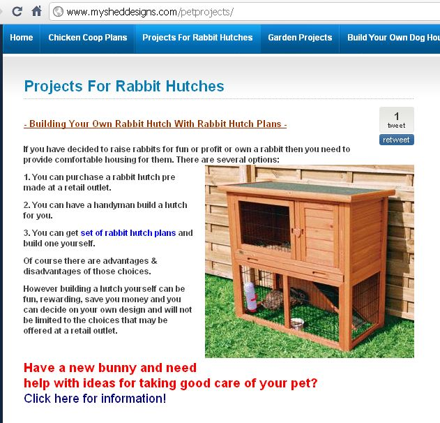 how to make a bunny hutch