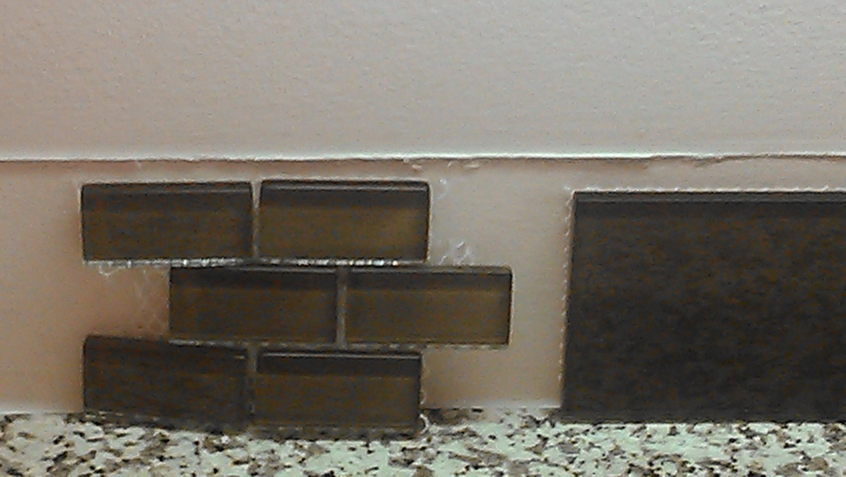 Glass tile and thin set color tiling contractor talk glass tile and thin set color dailygadgetfo Gallery