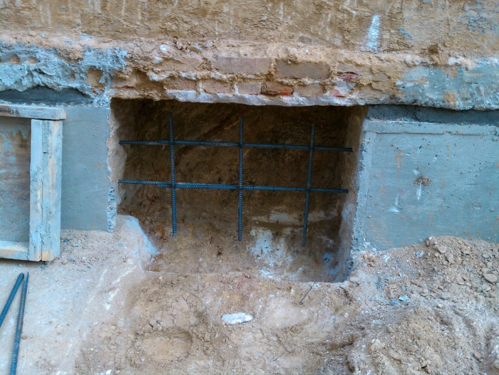 Grouting Between Footing And Underpinning Excavation