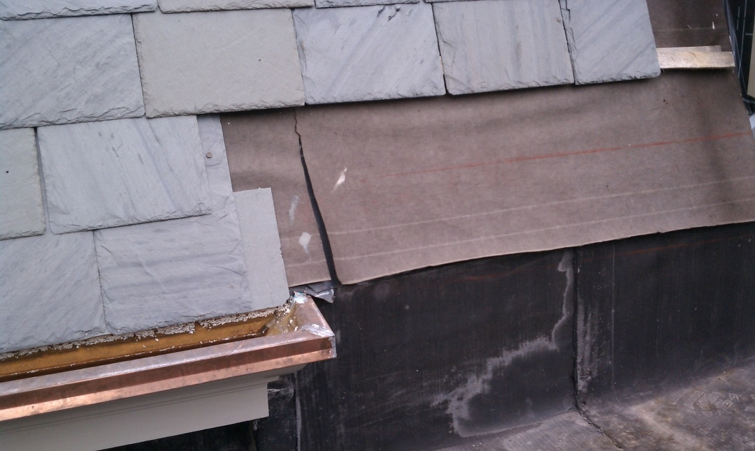 Tying Flat Roof To Mansard Slate Roofing Contractor Talk
