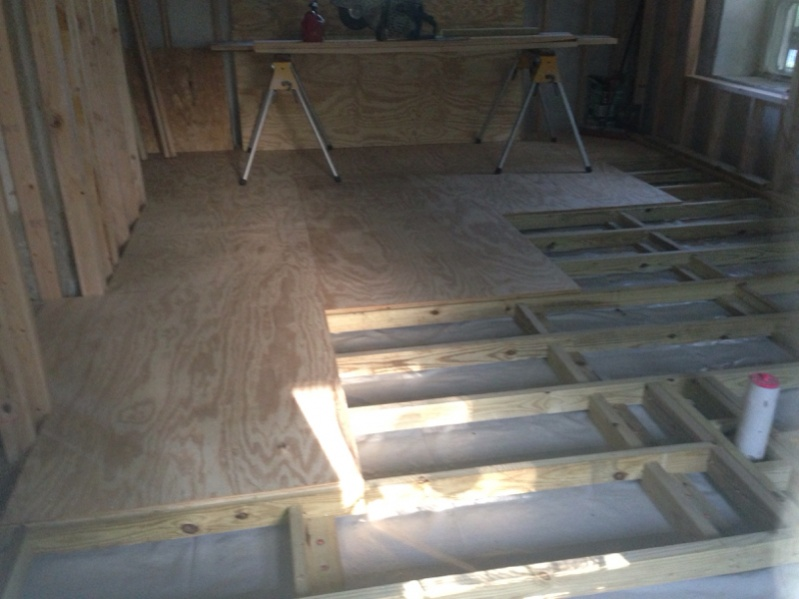 Framing A Floor Over Concrete Image Images
