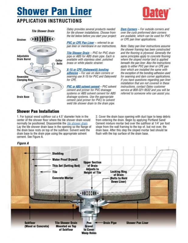 Shower Pan Liner Drain Question Image 142731289 Jpg