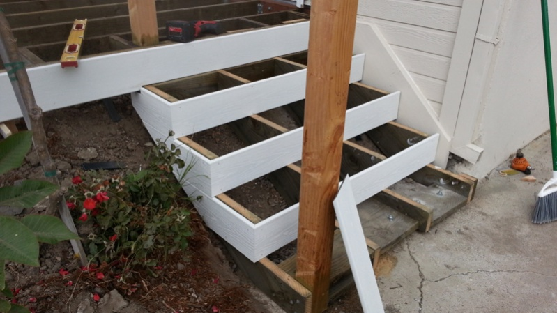 Another trex deck decks fencing contractor talk for Composite exterior stair treads
